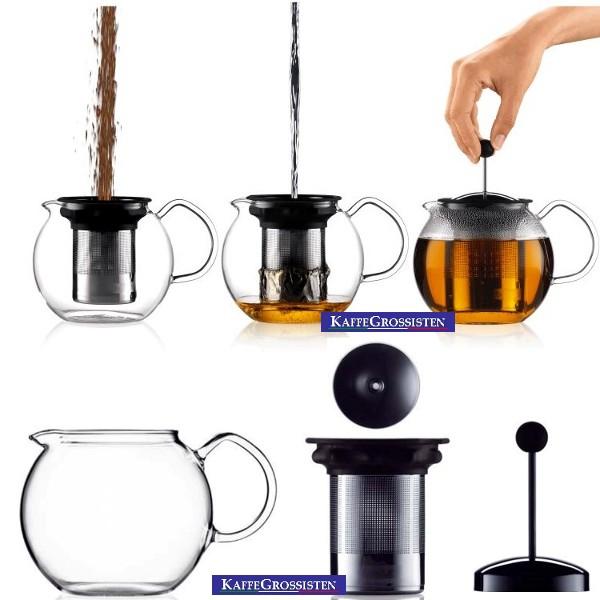how to use bodum tea press